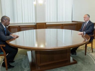 The U.S. Ambassador to Moldova Met With President Igor Dodon