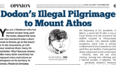 Dodon's Illegal Pilgrimage To Mount Athos