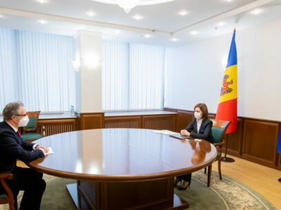 Maia Sandu Meets with the Head of the OSCE Mission to Moldova, Claus Neukirch