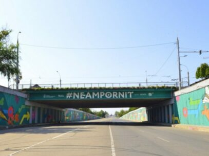 Mural Painting under Chisinau Bridge to Mark National Touristic Campaign in Moldova