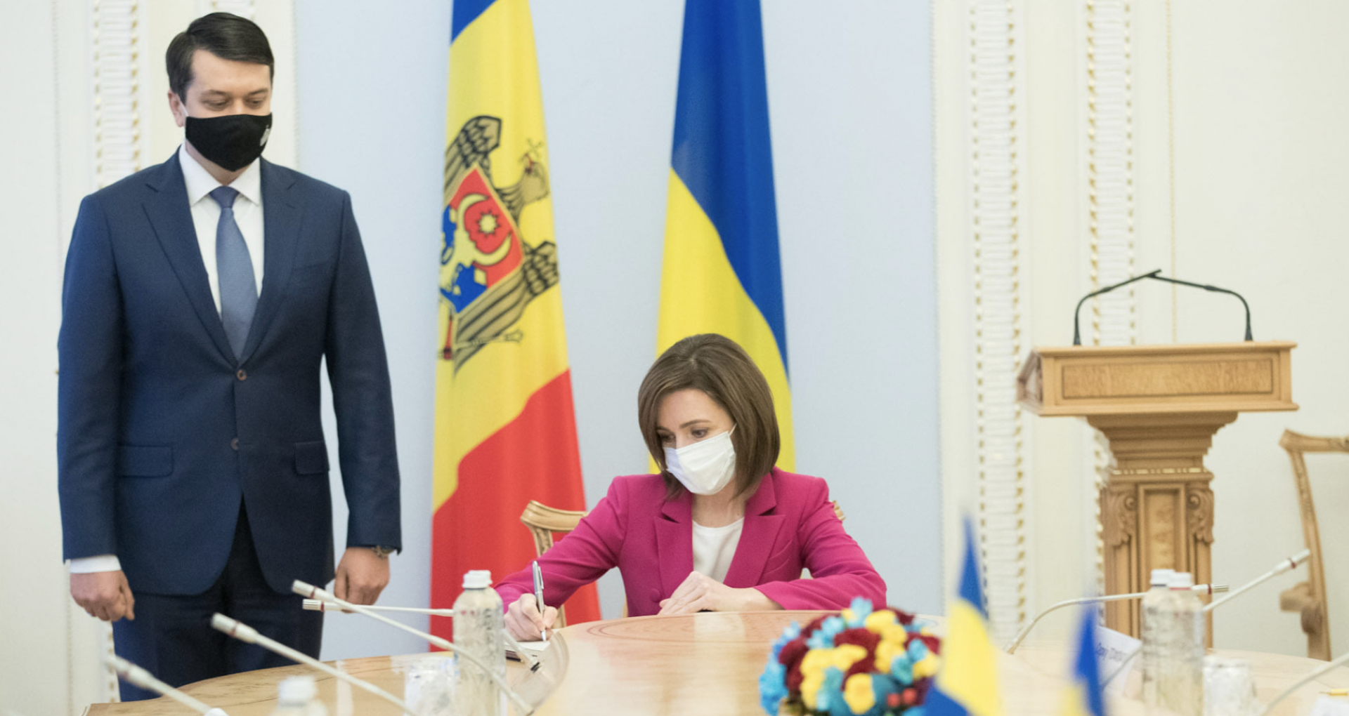 Moldova's President Meets the President of the Ukrainian Parliament and the Ukrainian Prime Minister