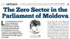 The Zero Sector in the Parliament of Moldova