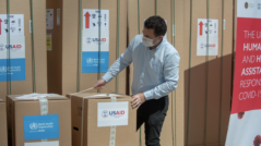 WHO and USAID Donate Equipment to Support the Healthcare System in the Fight Against the COVID-19 Pandemic