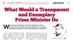 What Would a Transparent and Exemplary Prime Minister Do