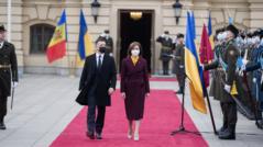 Maia Sandu Meets the President of Ukraine, Volodymyr Zelenskyi