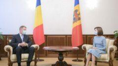 The President of Romania, Klaus Iohannis Meets President Maia Sandu
