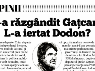 Has Gațcan Changed His Mind? Has President Igor Dodon Forgiven Him?