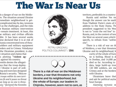 EDITORIAL: The War Is Near Us
