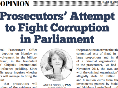 Prosecutors' Attempt to Fight Corruption in Parliament
