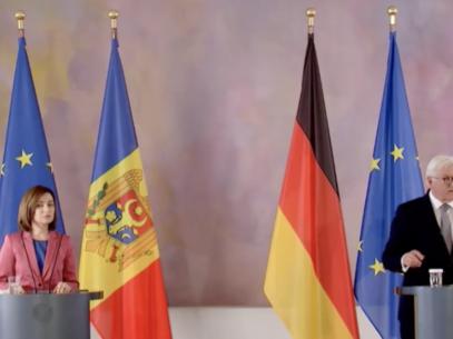 President Sandu Met with the President of Germany, Frank-Walter Steinmeier