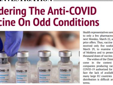 Tendering The Anti-COVID Vaccine On Odd Conditions