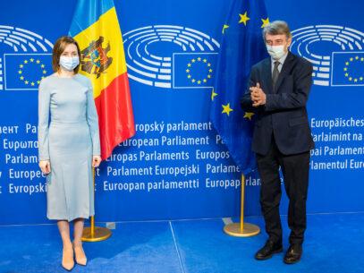 Maia Sandu Met with David Sassoli, the President of the European Parliament