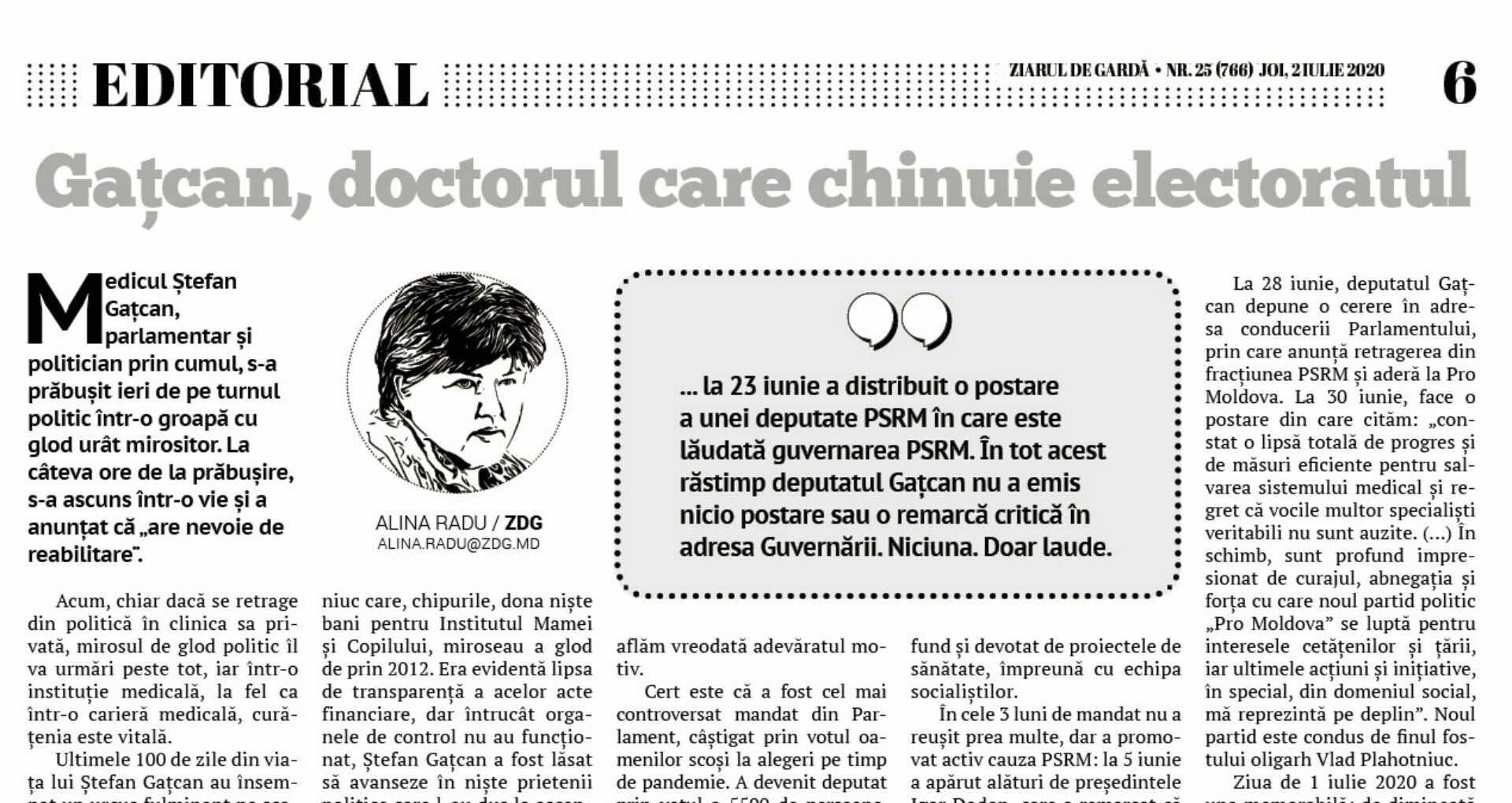Ștefan Gațcan, the Doctor Who Taunts the Electorate