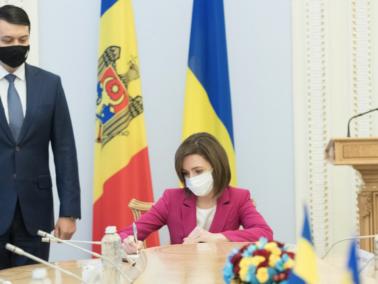 Moldova's President Meets the President of the Ukrainian Parliament and the Ukrainian Prime Minister