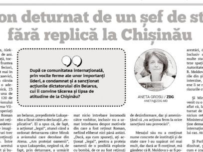 EDITORIAL: Chișinău Authorities' Reaction to a Hijacked Plane