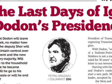 The Last Days of Igor Dodon's Presidency