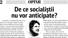 Why the Socialist Party Rejects Snap Elections