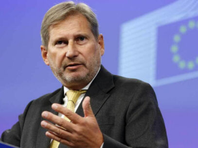 When can macrofinancial assistance be resumed, according to EU Commissioner Johannes Hahn