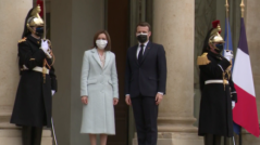 Maia Sandu Meets Emmanuel Macron
