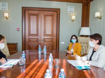 Prime Minister Gavrilița Met the European Bank for Reconstruction and Development Representative in Moldova, Angela Sax