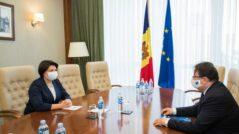 New Prime Minister Natalia Gavrilița Meets the Head of the EU Delegation, Peter Michalko
