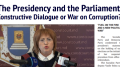 The Presidency and the Parliament: Constructive Dialogue or War on Corruption?