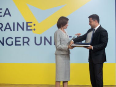 Volodymyr Zelenski Awarded President Maia Sandu the Order of Prince Yaroslav the Wise