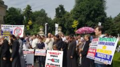 Priests and Believers Protest Against Compulsory Vaccination