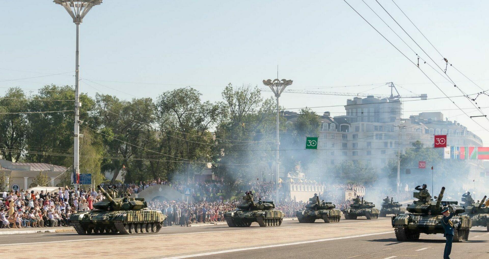 Public Manifestation in Tiraspol City,  Transnistria, Moldova's Breakaway Region