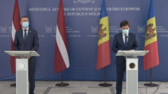 The Latvian Minister of Foreign Affairs, Edgars Rinkēvičs, Pays a Visit to Moldova