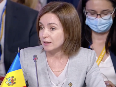 """President Maia Sandu at the Crimea Platform Summit in Ukraine: """"Crimea is Ukraine, and its illegal annexation is a violation of the international law"""""""