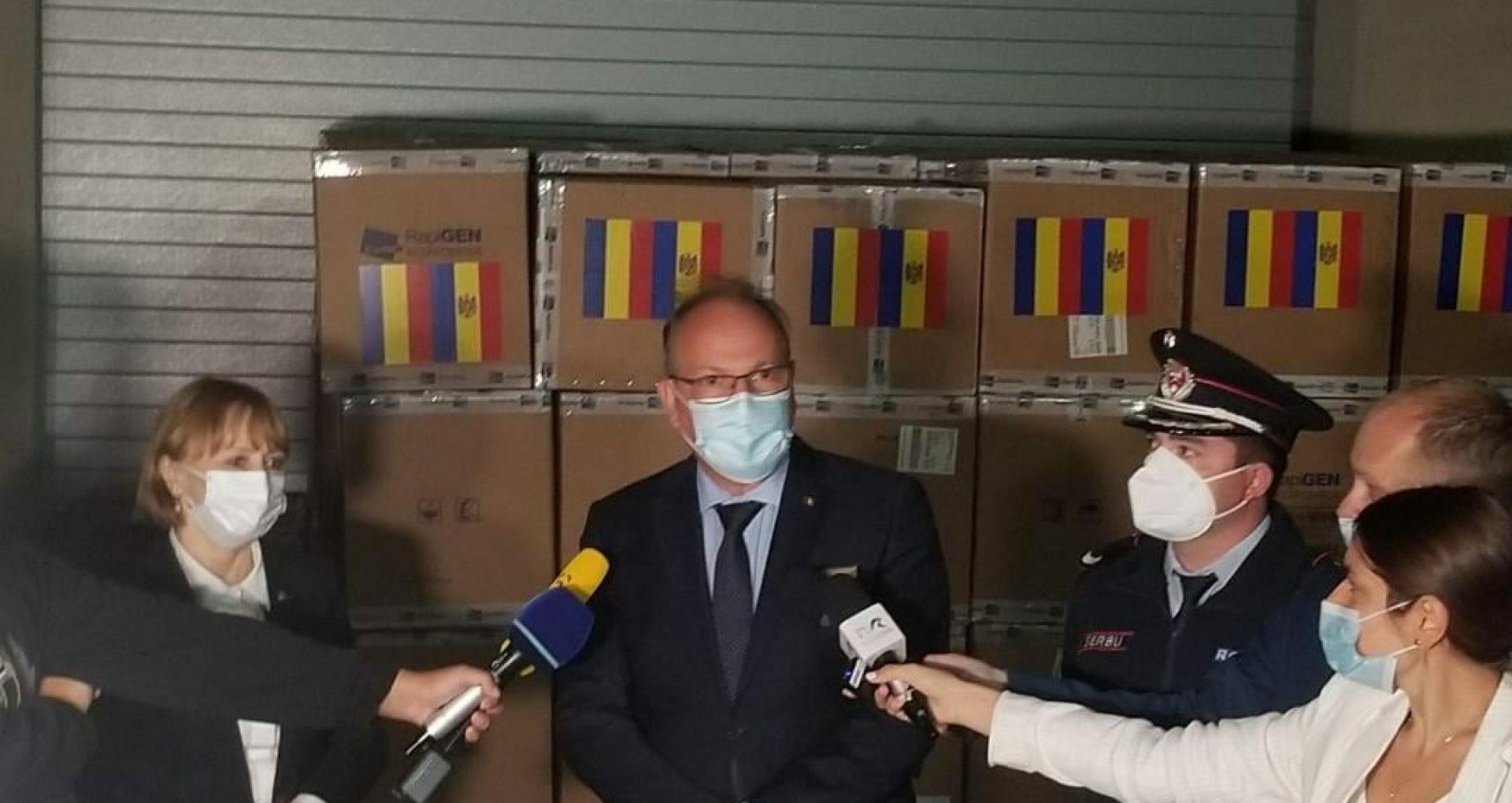 Romania Donates to Moldova 100,000 COVID-19 Rapid Antigen Tests