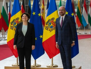 Prime Minister Natalia Gavrilița Meets Charles Michel, President of the European Council, During Her Official Visit to Brussels