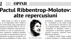 EDITORIAL: The Ribbentrop-Molotov Pact: Other Repercussions