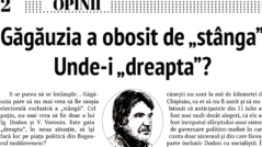 EDITORIAL: Găgăuzia is Tired of the Left. Where are the Forces of the Right?