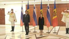 President Maia Sandu and the President of Slovenia, Borut Pahor, Met on Friday, October 1