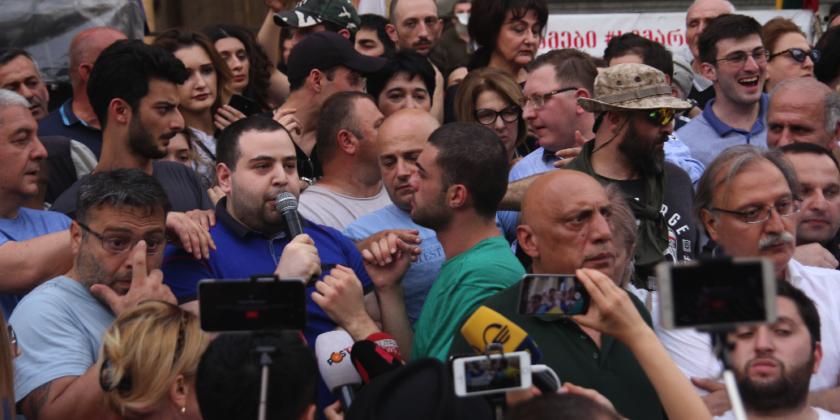 Политический кризис в Грузии: протест продолжается