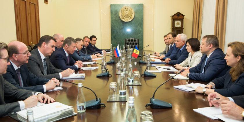 О чем говорила премьер Молдовы с вице-премьером Российской Федерации Дмитрием Козаком
