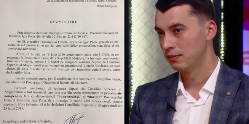 Новое руководство Генпрокуратуры будет расследовать факты, изложенные в информационной записке судьи Мургелец