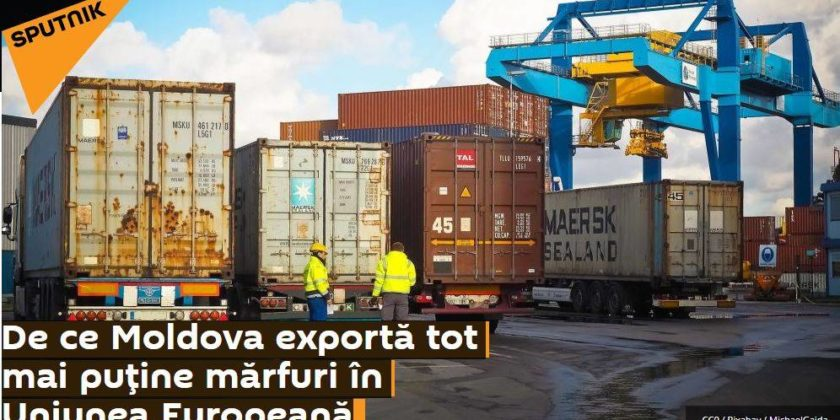 ФЕЙК: Спекуляции по поводу молдавского экспорта: Sputnik видит снижение экспорта в ЕС, но не видит намного большего спада поставок в СНГ