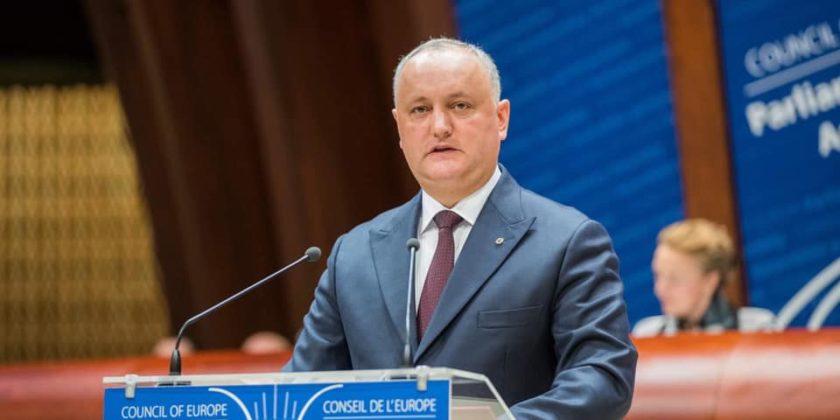Игорь Додон: «Мы приветствуем инициативу РФ возобновить процесс вывоза боеприпасов с территории Республики Молдова»