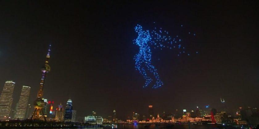 Дроны вместо фейерверков. Китайцы придумали экологичное новогоднее шоу