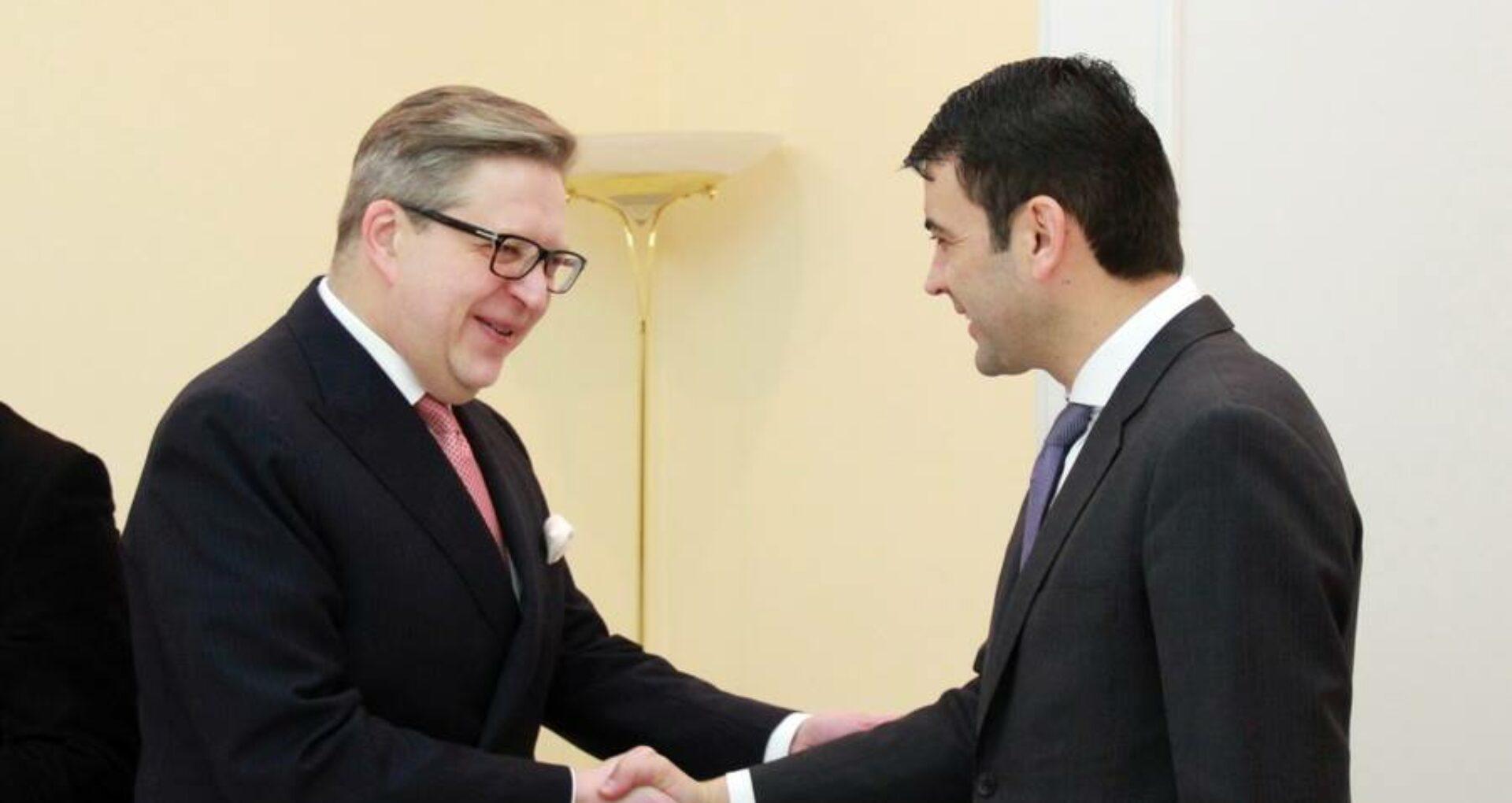 Chiril Gaburici s-a întâlnit cu Pirkka Tapiola