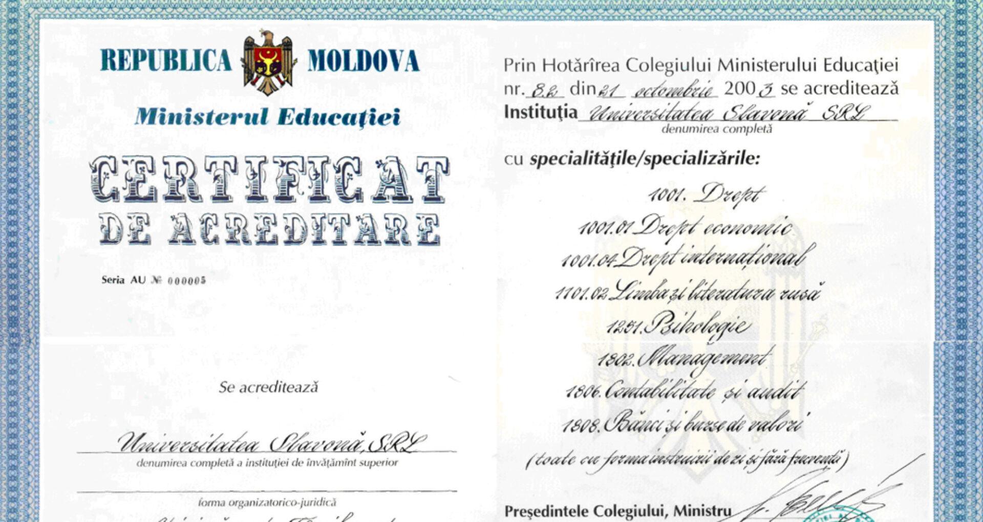 Prima reacție a Ministerului Educației:  Universitatea Slavonă a activat până în 2003 în baza unei autorizații provizorii