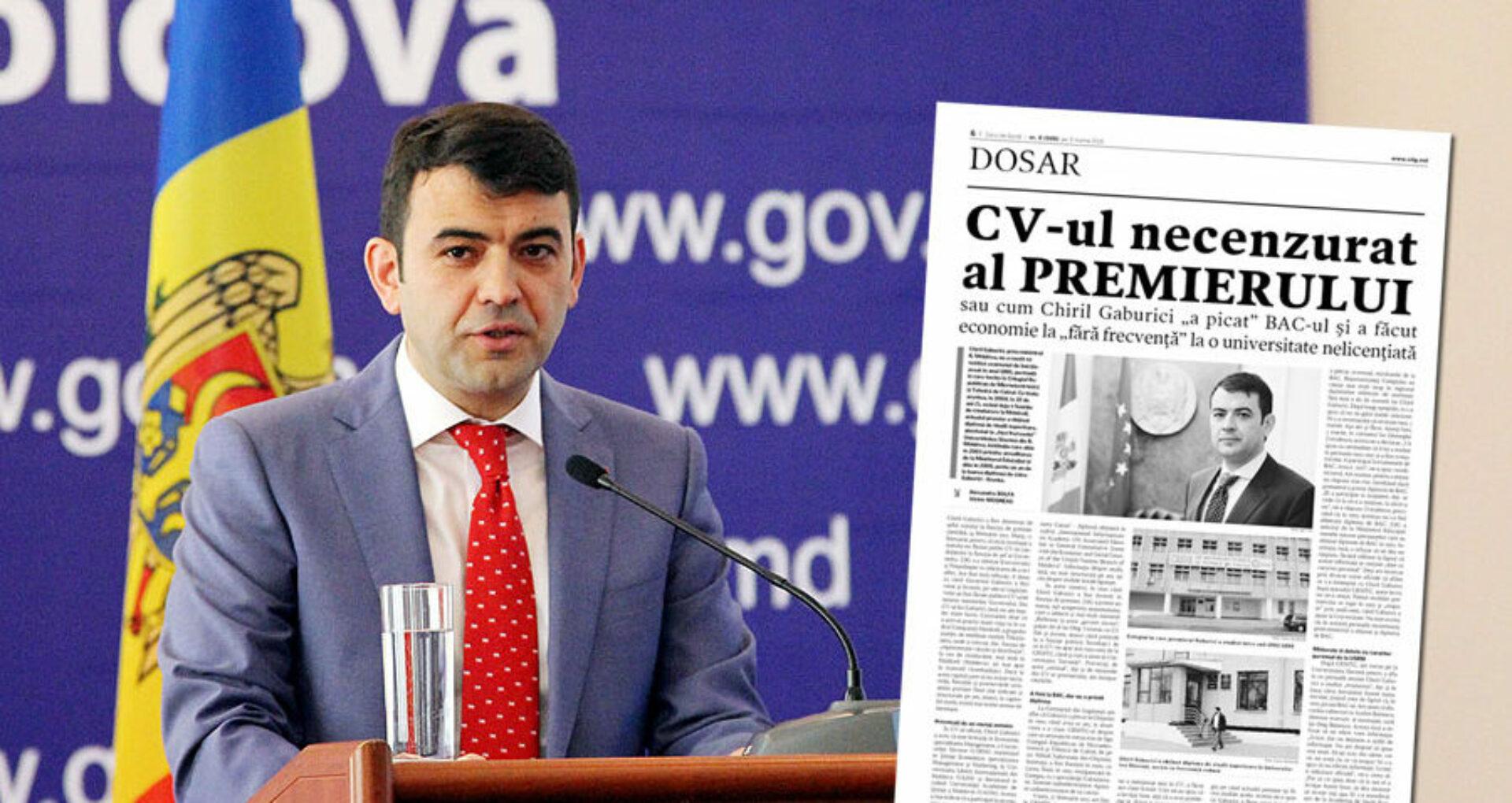 (doc) Se cere anularea diplomei de studii a lui Chiril Gaburici: Cum a evoluat scandalul cu diploma falsă a fostului premier