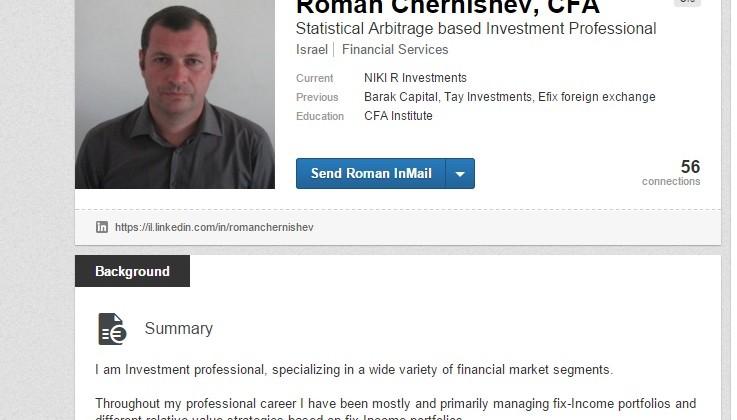 Roman Chernishev Linkedin