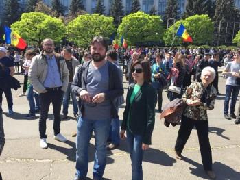 maia sandu la protest