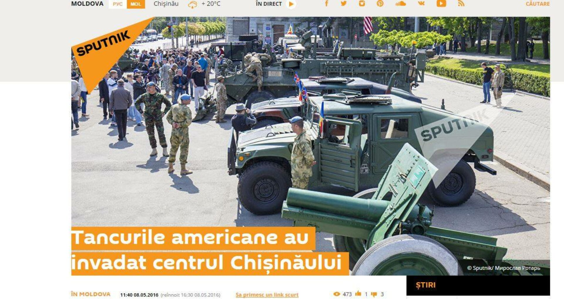 STOP FALS: Tancurile NATO au invadat Chişinăul