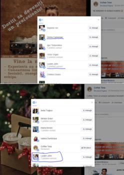 Lucian Chirtoacă apreciază pe reţele de socializare mesajele distribuite de Coffee Time