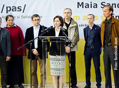 Maia Sandu a fost aleasă în funcția de președintă a PAS la începutul anului 2016